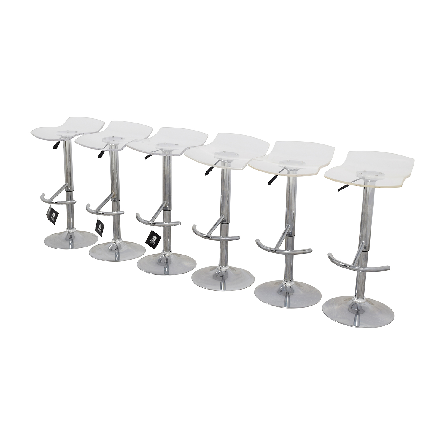 shop InMod California Ghost Adjustable Stools InMod Chairs