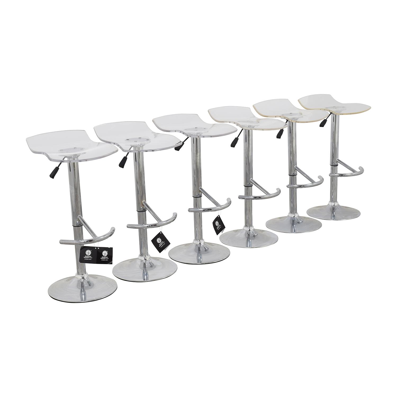 83 OFF InMod InMod California Ghost Adjustable Stools  : used inmod california ghost adjustable stools from furnishare.com size 1500 x 1500 jpeg 214kB