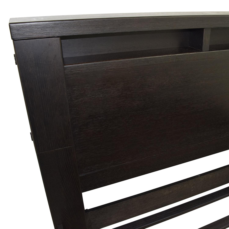 ... Metropolitan Home Metropolitan Home Tocara Queen Storage Bed Frame  Black ...
