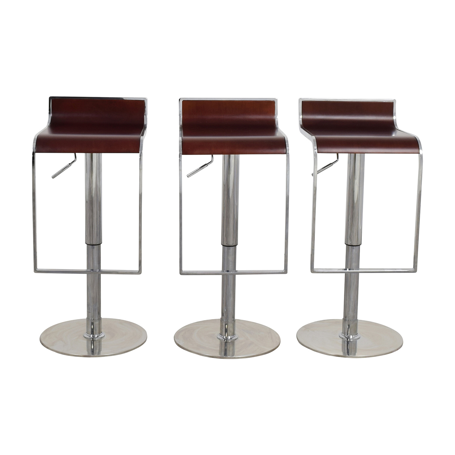 InMod Forest Brown Adjustable Bar Counter Stool sale
