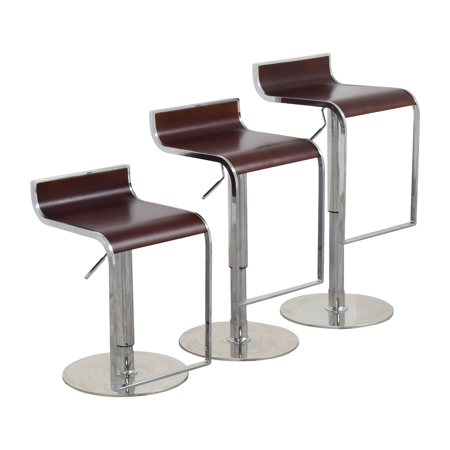 shop InMod InMod Forest Brown Adjustable Bar Counter Stool online