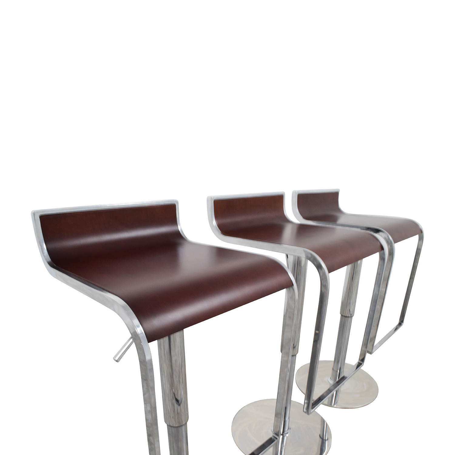 InMod InMod Forest Brown Adjustable Bar Counter Stool dimensions