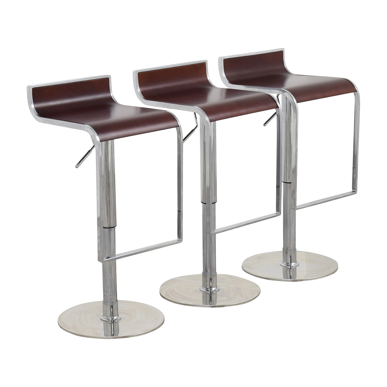InMod Forest Brown Adjustable Bar Counter Stool InMod