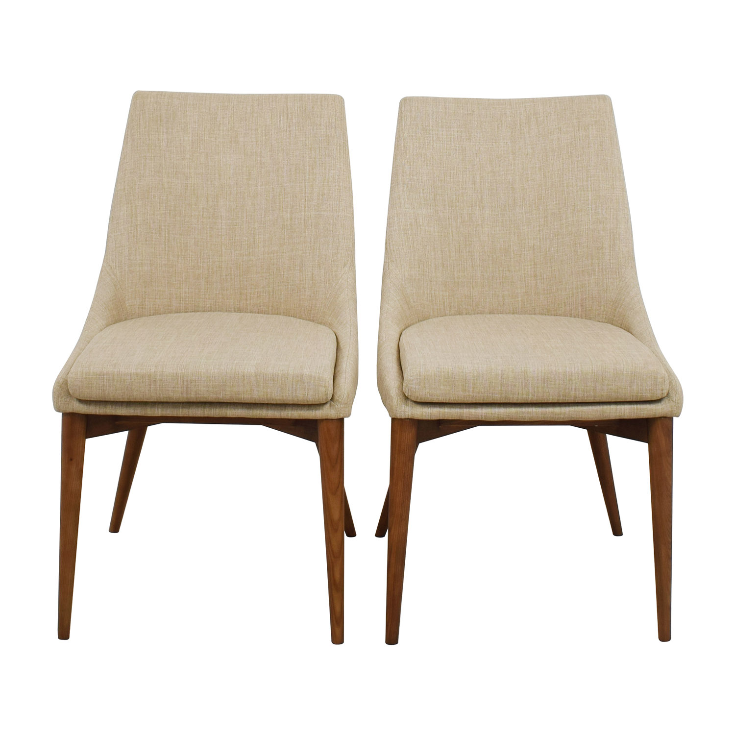 InMod Beige Calais Side Chairs / Accent Chairs