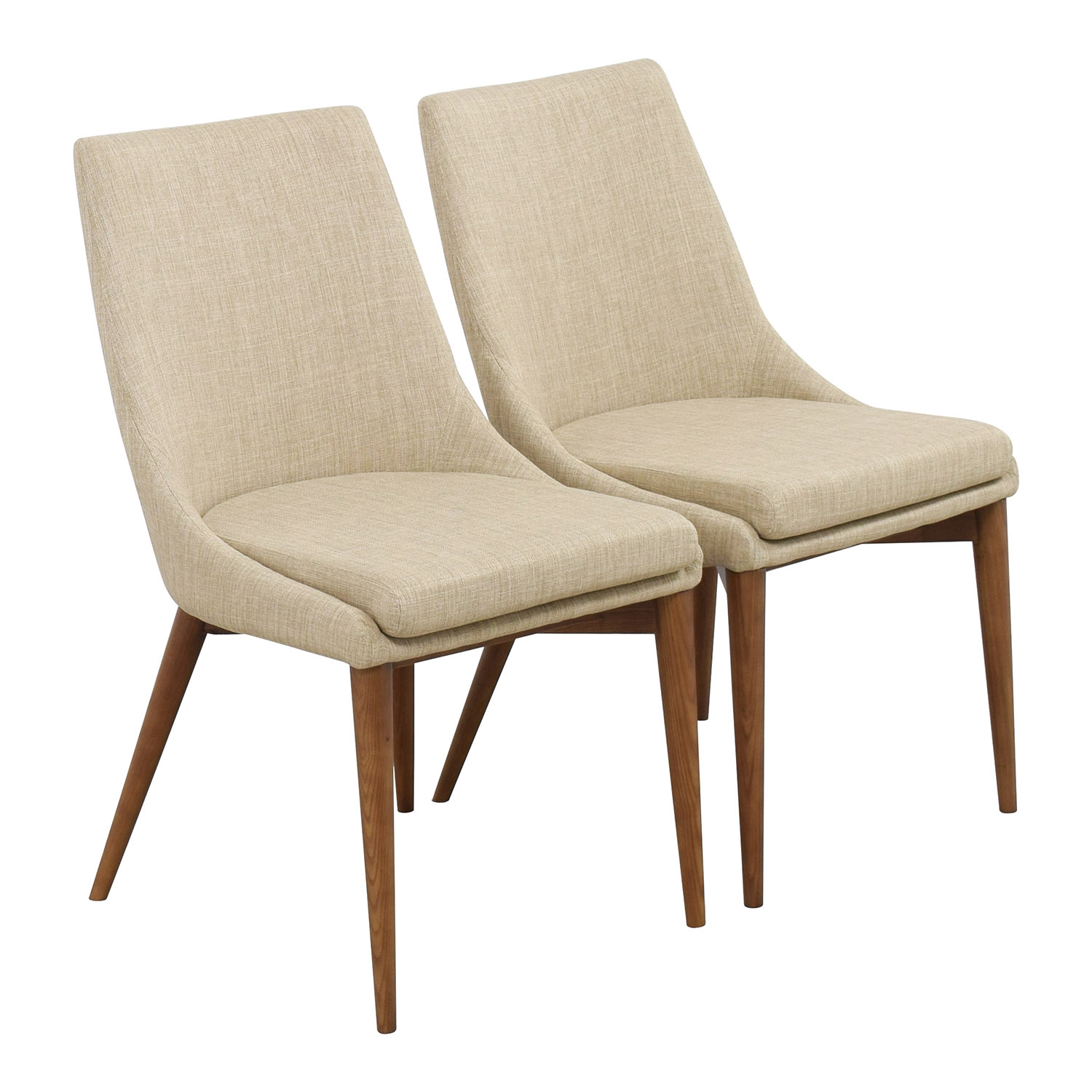 Captivating ... InMod InMod Beige Calais Side Chairs Second Hand ...
