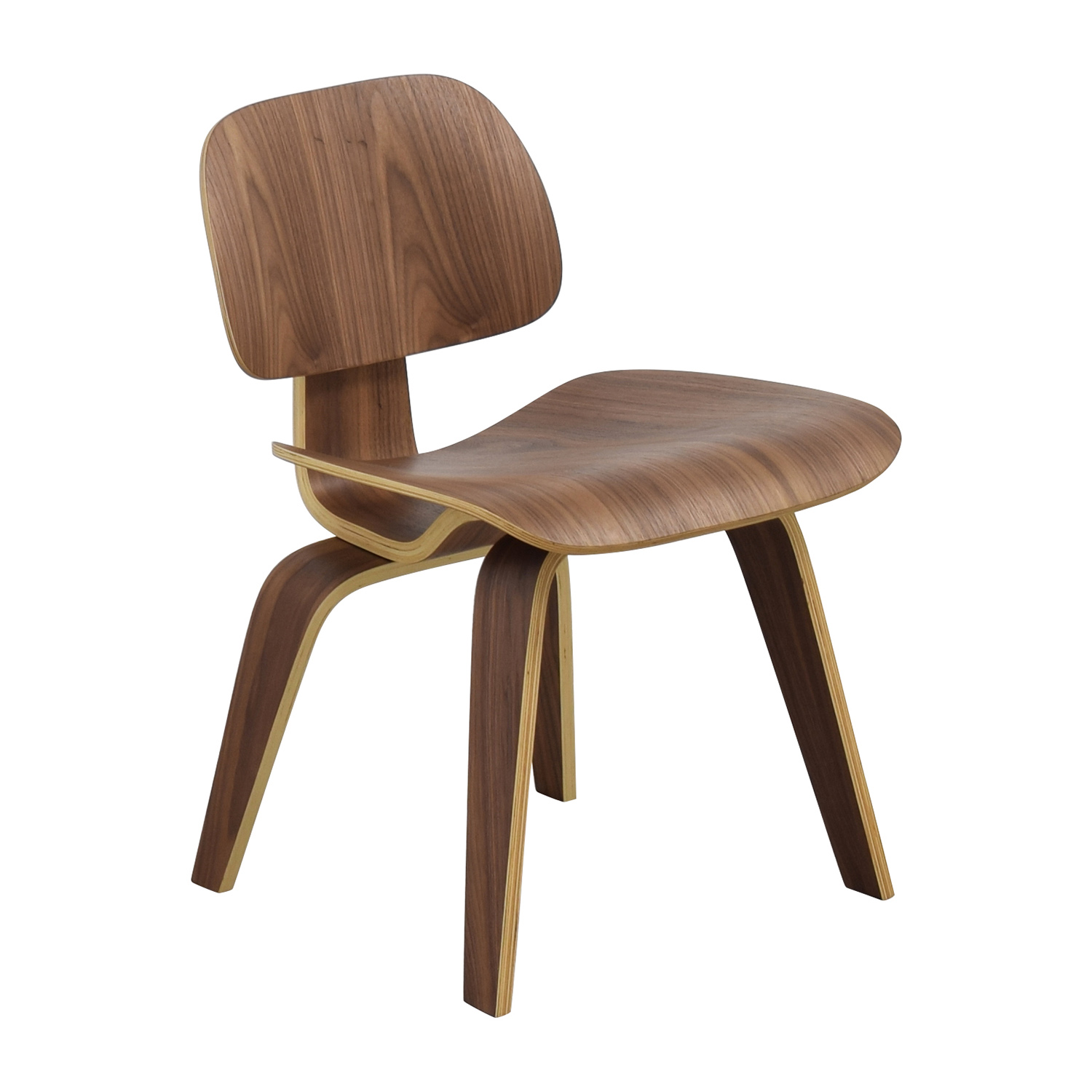 InMod InMod Plywood Dining Chair with Wood Legs