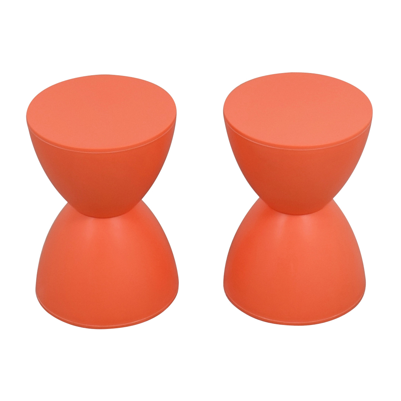 ... Buy InMod Orange Sallie Stools InMod Chairs ...