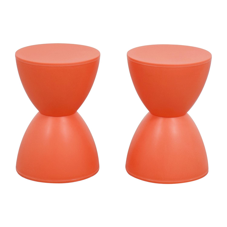 InMod Orange Sallie Stools / Chairs