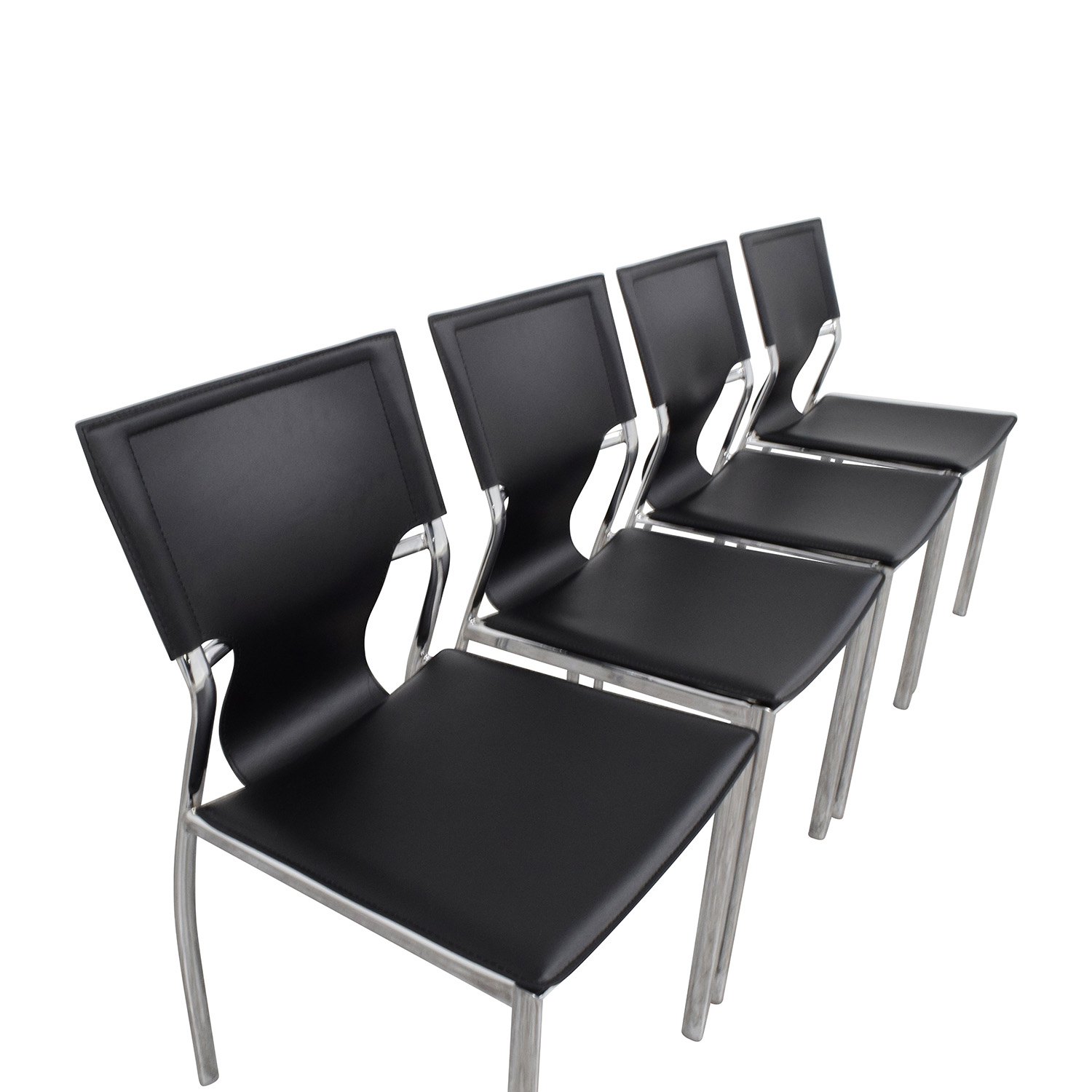... Buy InMod Vinnie Leather Side Chairs InMod Dining Chairs ...
