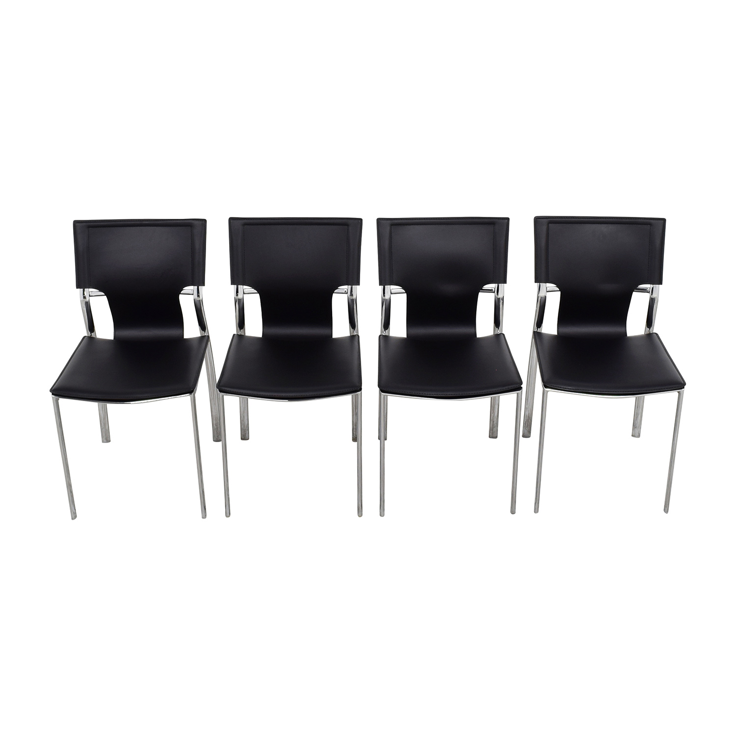 InMod InMod Vinnie Leather Side Chairs discount
