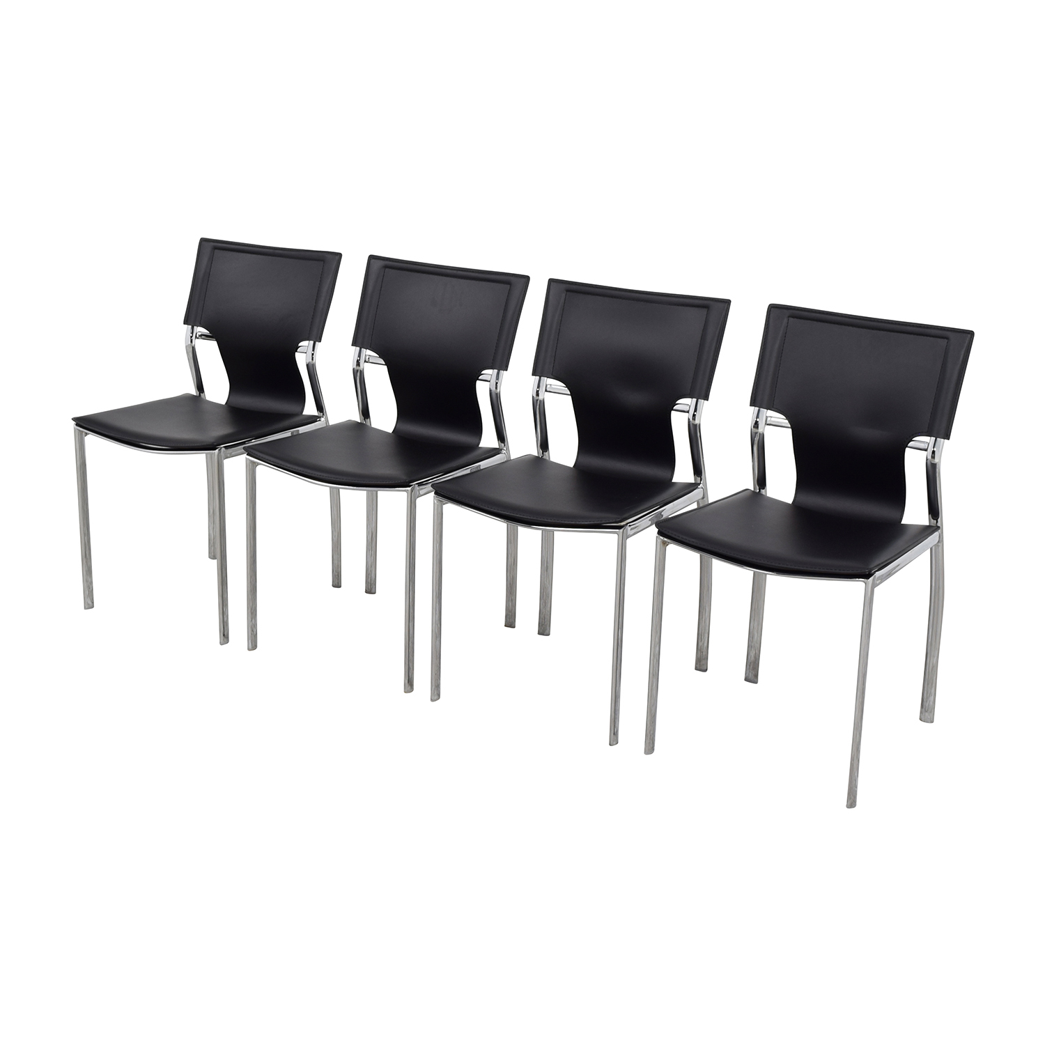 InMod InMod Vinnie Leather Side Chairs Dining Chairs
