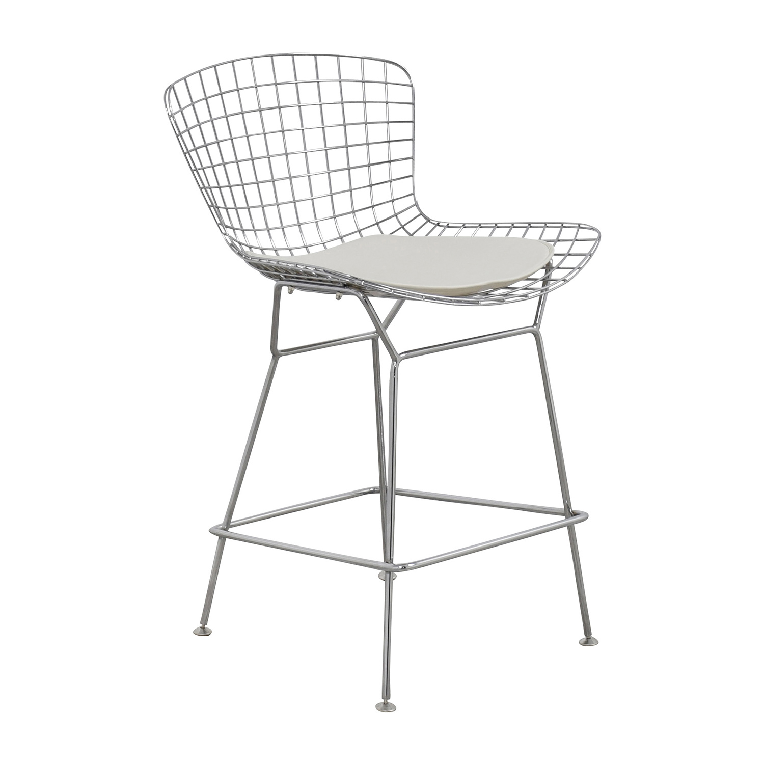 54 off inmod inmod chrome wire bertoia counter stool chairs - Bertoia wire counter stool ...