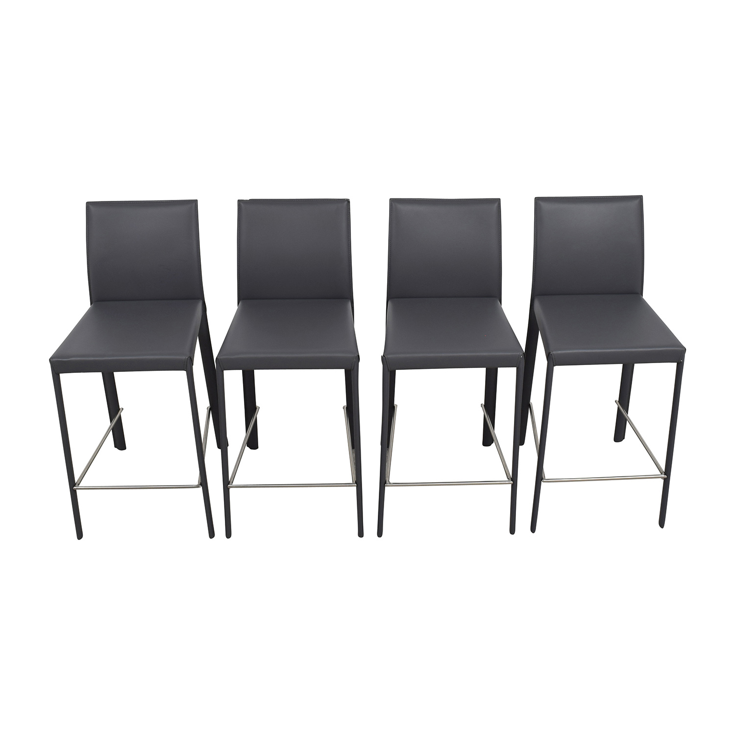 shop InMod Hasina-C Black Leather Counter Stools InMod