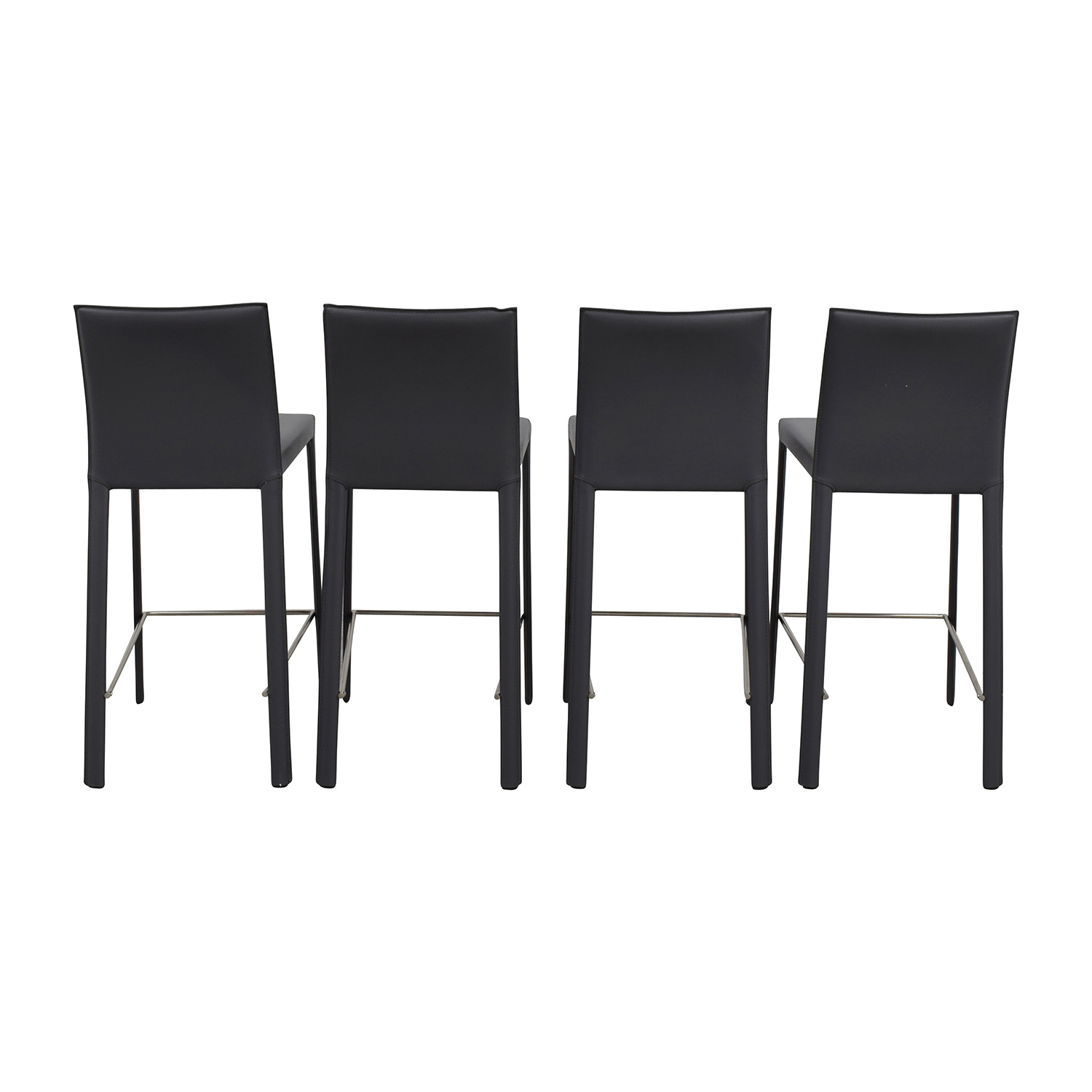 buy InMod Hasina-C Black Leather Counter Stools InMod
