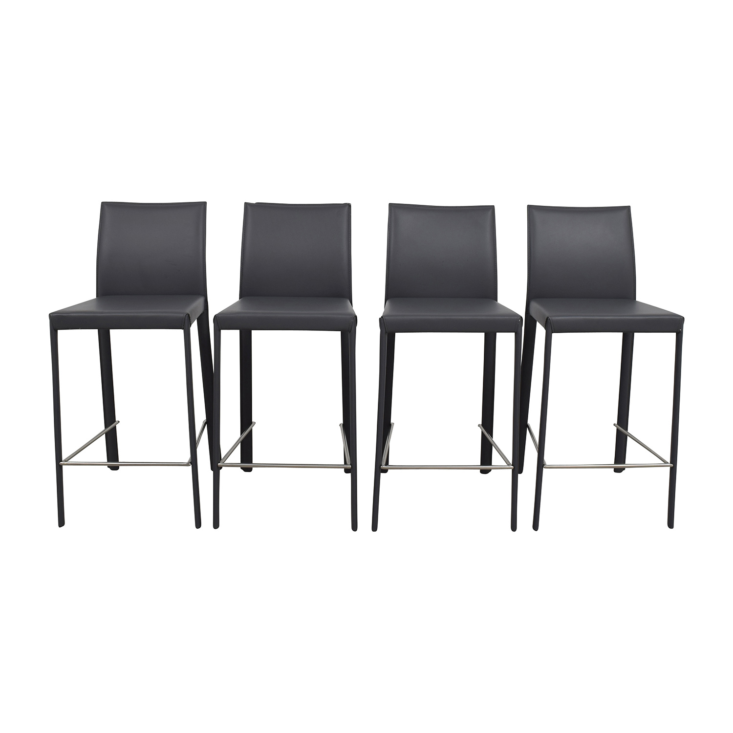 buy InMod Hasina-C Black Leather Counter Stools InMod Chairs