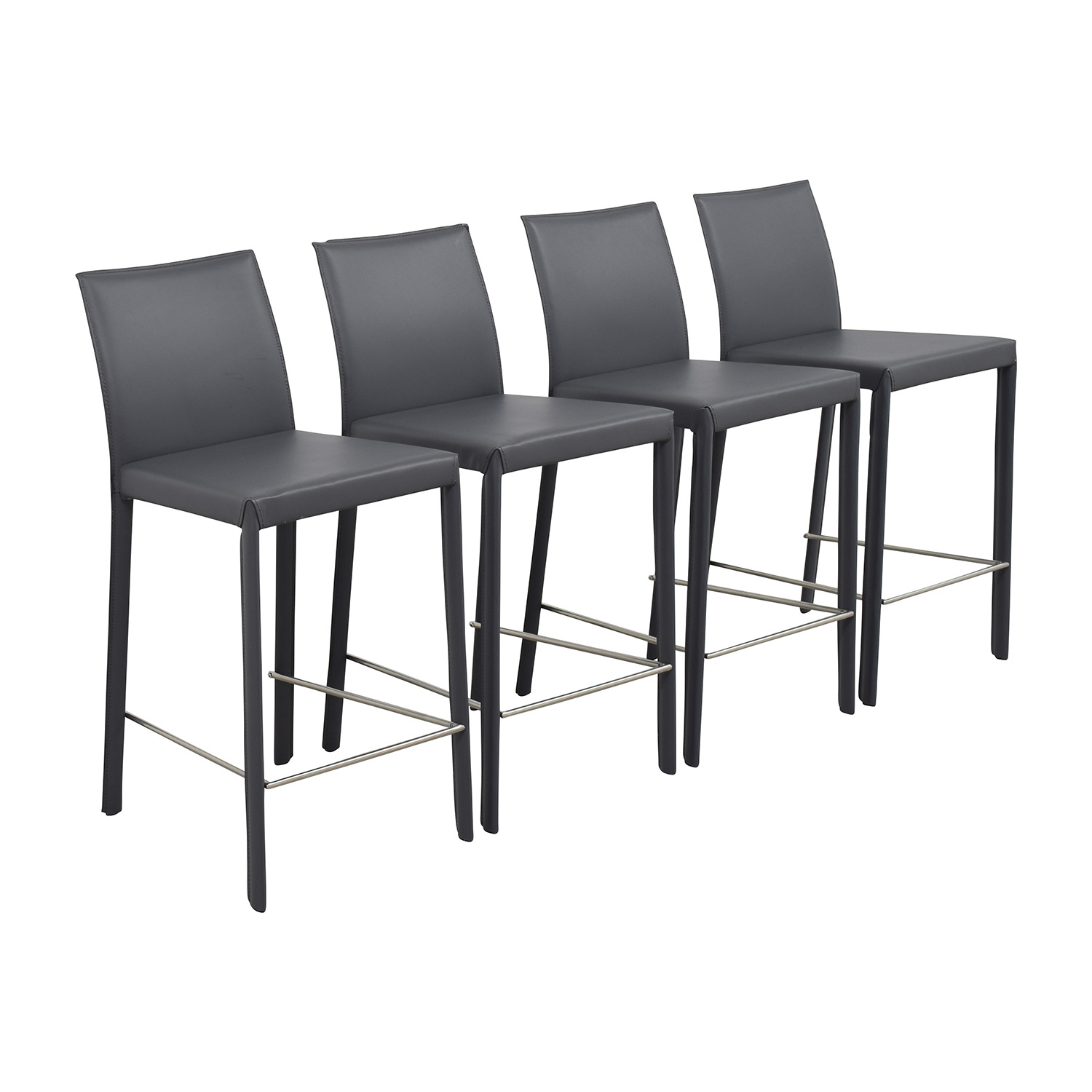 InMod InMod Hasina-C Black Leather Counter Stools second hand