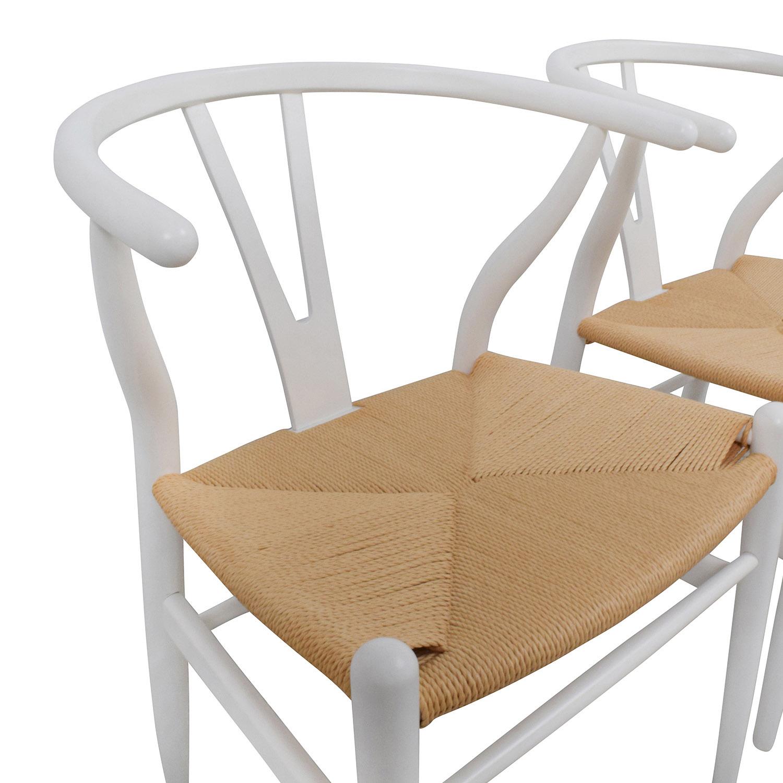 buy InMod Hans Wegner CH24 White Wishbone Chairs InMod