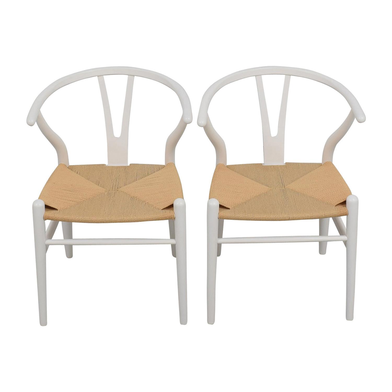 shop InMod Hans Wegner CH24 White Wishbone Chairs InMod