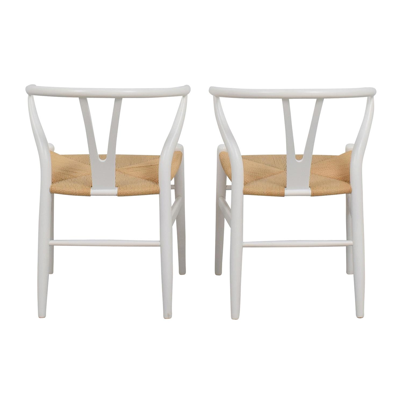shop InMod InMod Hans Wegner CH24 White Wishbone Chairs online