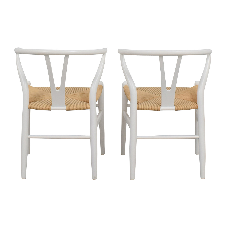 ... InMod InMod Hans Wegner CH24 White Wishbone Chairs ...