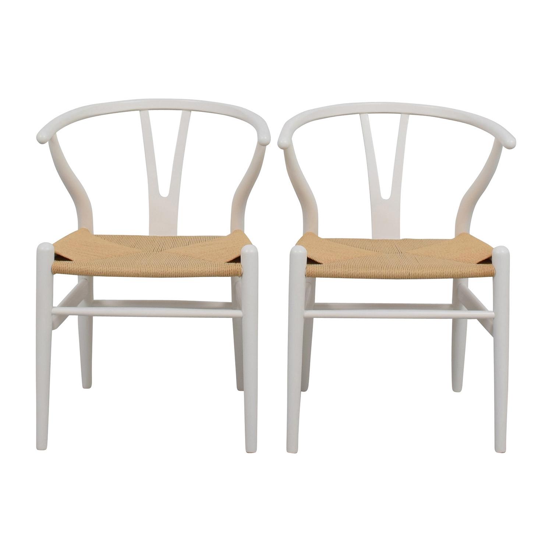buy InMod Hans Wegner CH24 White Wishbone Chairs InMod Accent Chairs