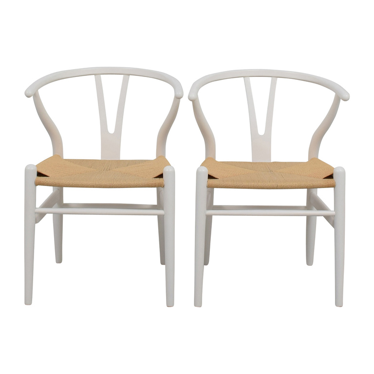 InMod InMod Hans Wegner CH24 White Wishbone Chairs