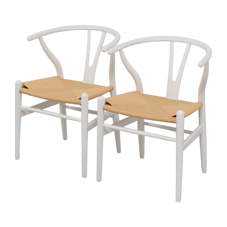 InMod InMod Hans Wegner CH24 White Wishbone Chairs second hand