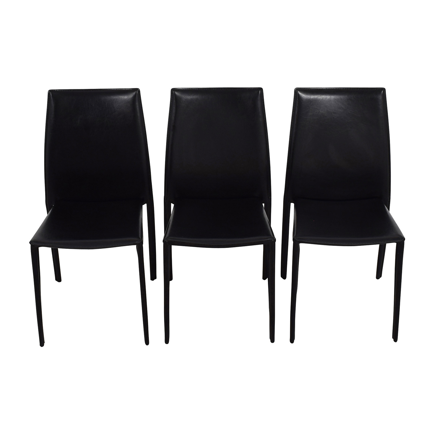 ... Buy InMod Manta Black Leather Stacking Chairs InMod Chairs ...