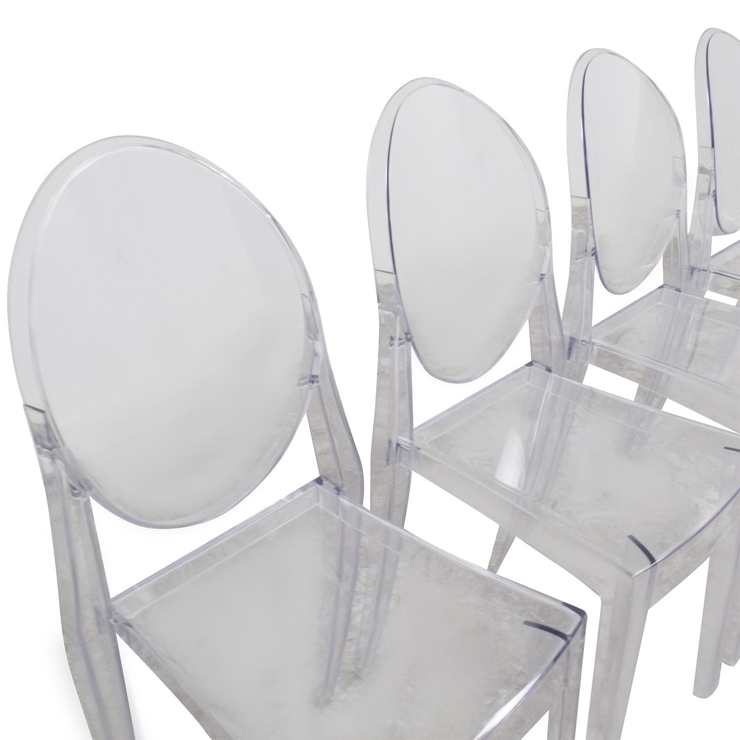 Charming ... InMod InMod Phantom Stackable Side Chairs Used