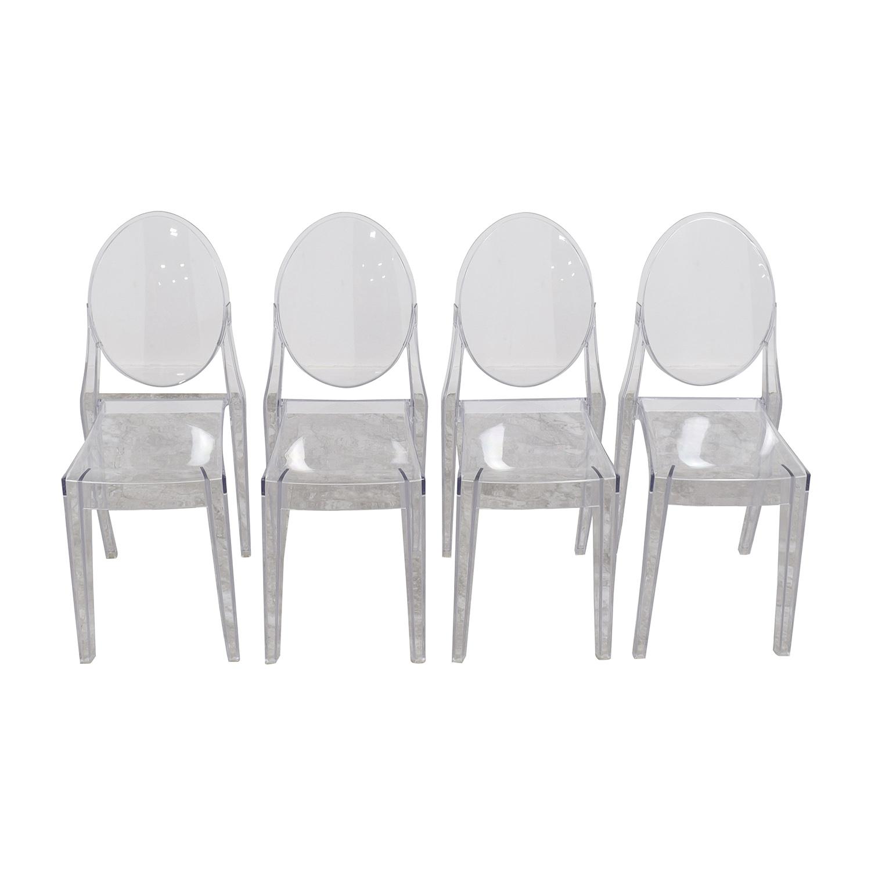 buy InMod Phantom Stackable Side Chairs InMod