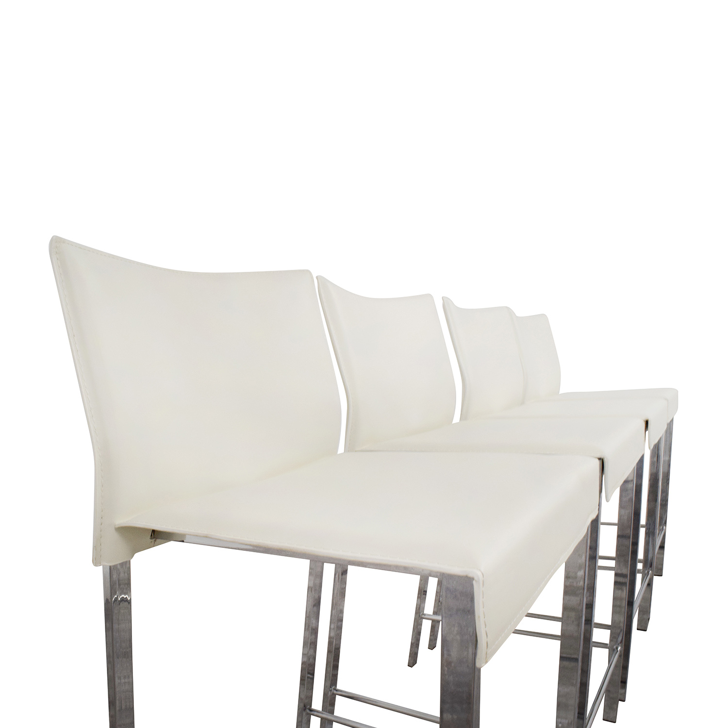 shop InMod Riley-C Counter White Stool InMod