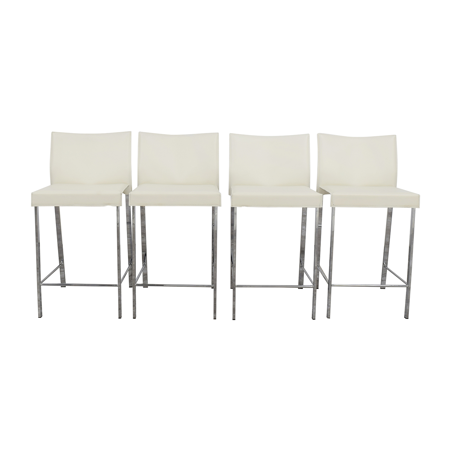 shop InMod Riley-C Counter White Stool InMod Stools