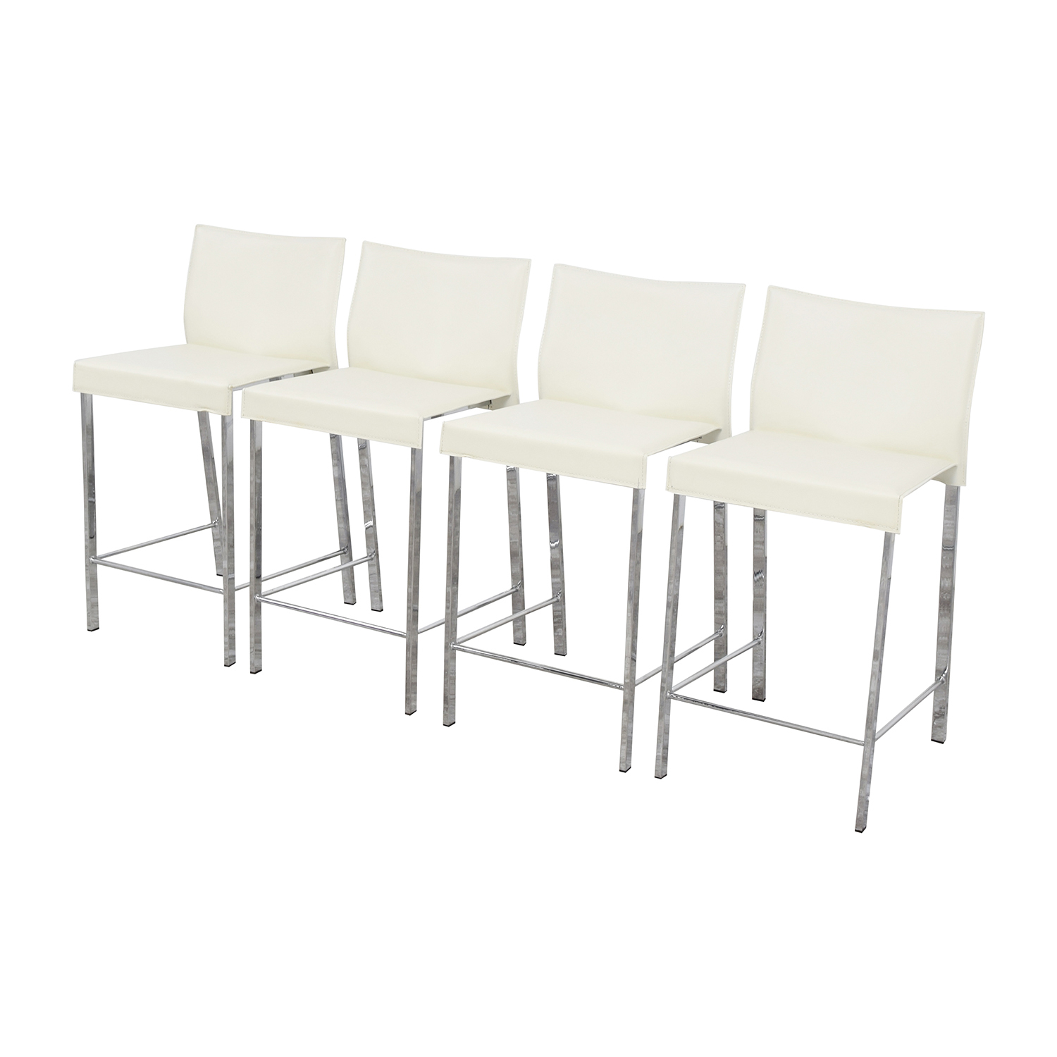 buy InMod Riley-C Counter White Stool InMod