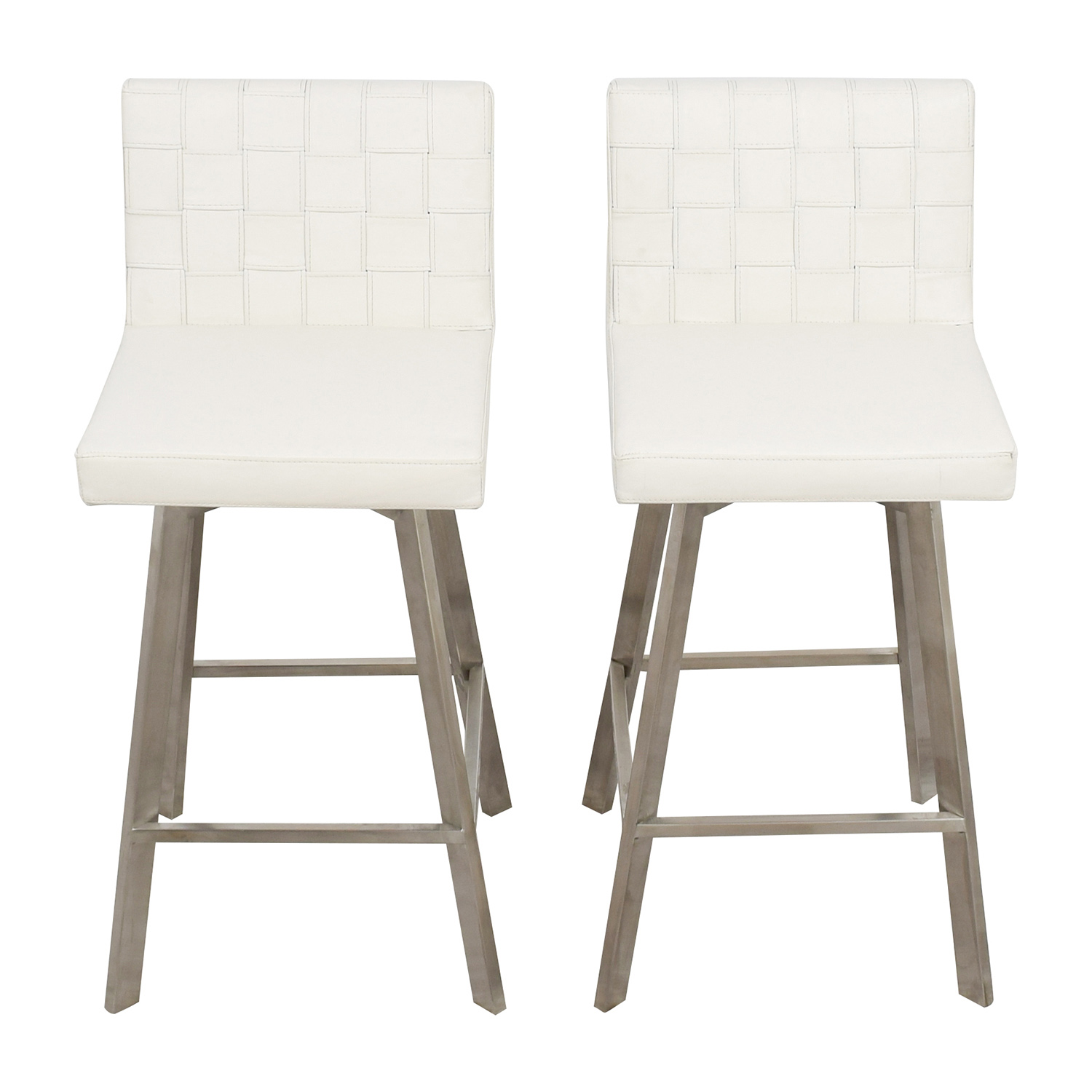 InMod InMod Constantine White Bar Stools Chairs