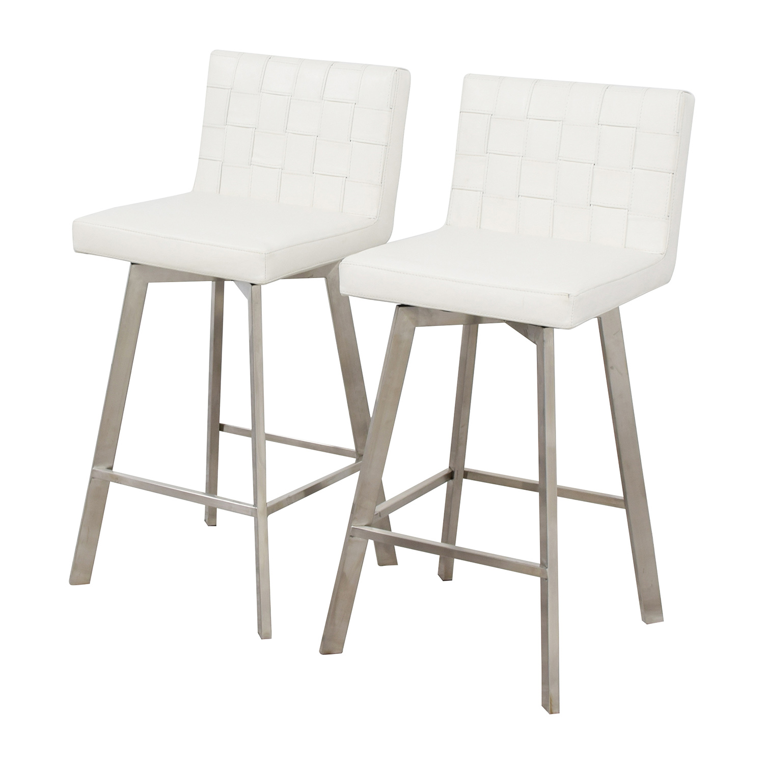 90 off inmod inmod constantine white bar stools chairs for In mod furniture