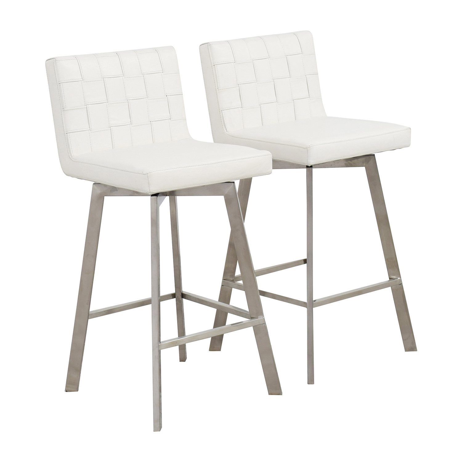90 off inmod inmod constantine white bar stools chairs. Black Bedroom Furniture Sets. Home Design Ideas
