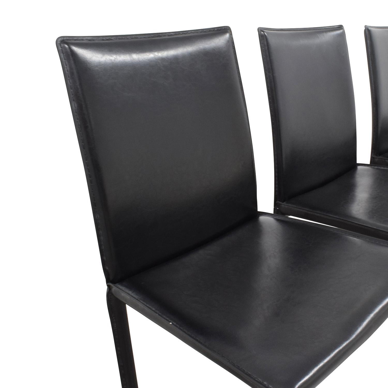 InMod InMod Mia Black Leather Chair Chairs
