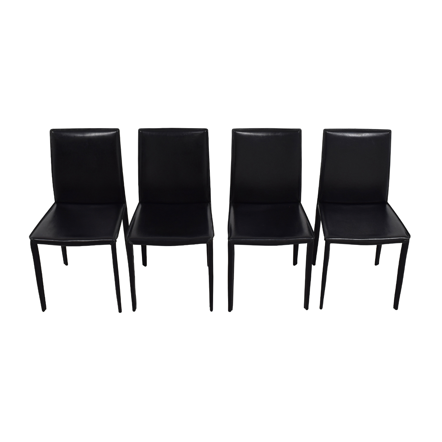 InMod Mia Black Leather Chair / Dining Chairs