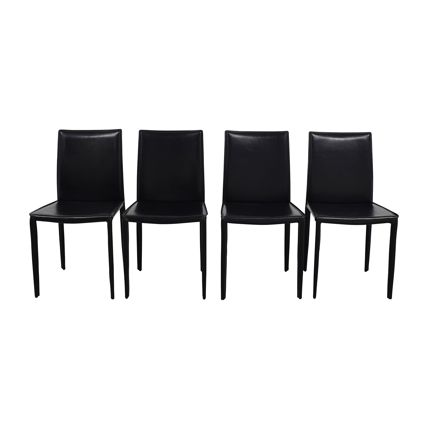 shop InMod Mia Black Leather Chair InMod Dining Chairs