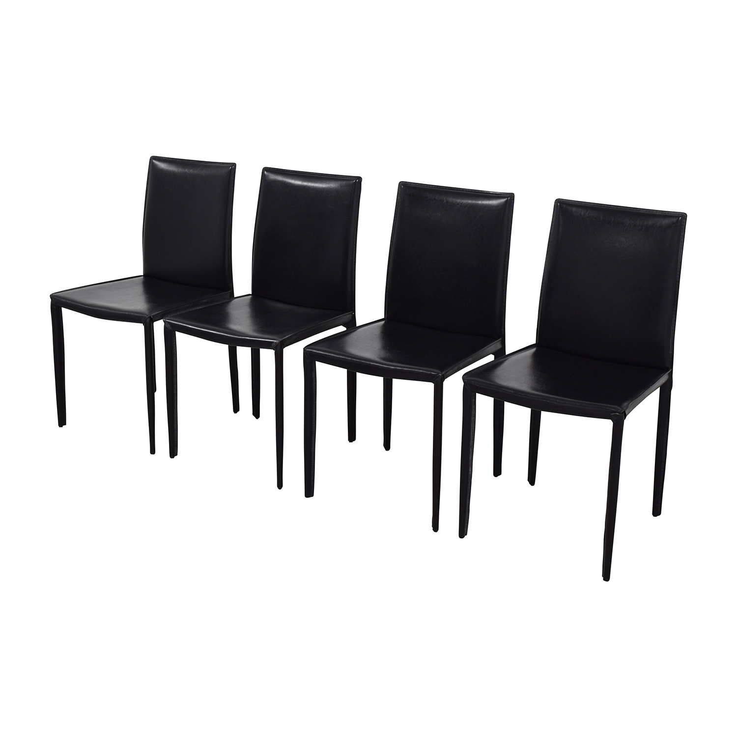 InMod Mia Black Leather Chair / Chairs