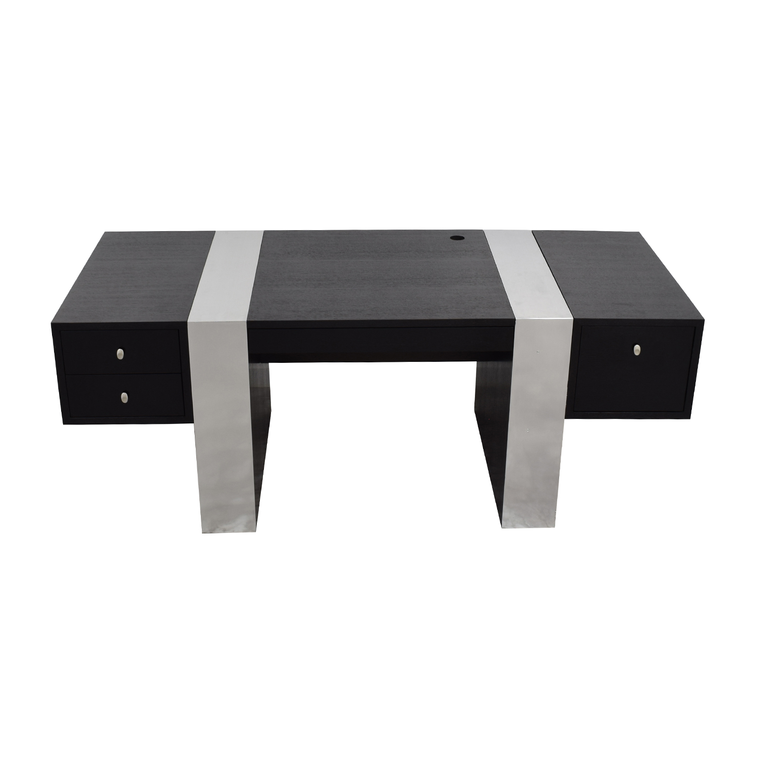 shop InMod Nero Black and Chrome Desk InMod