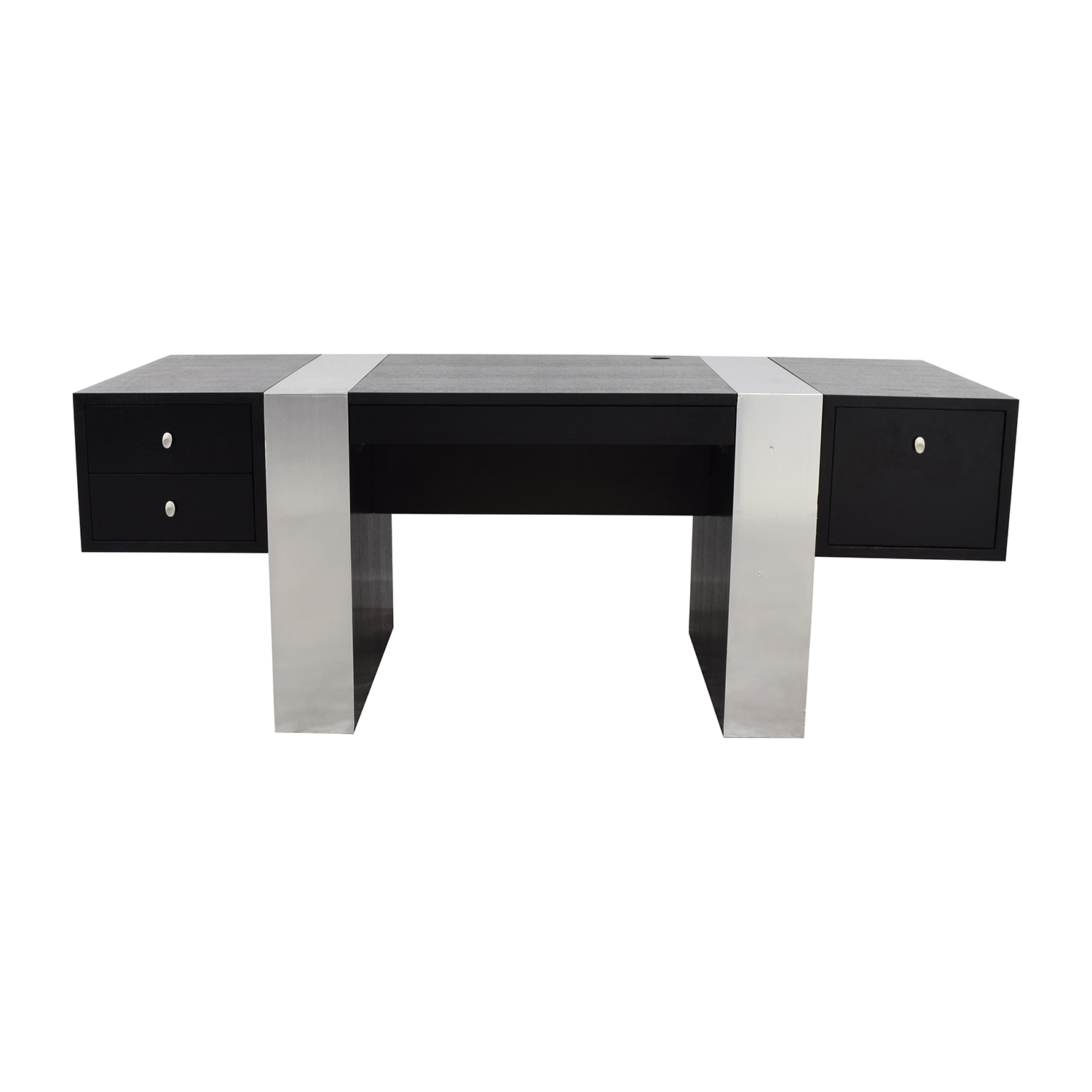 InMod Nero Black and Chrome Desk sale