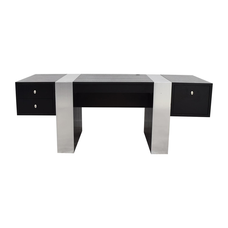 InMod Nero Black and Chrome Desk / Home Office Desks
