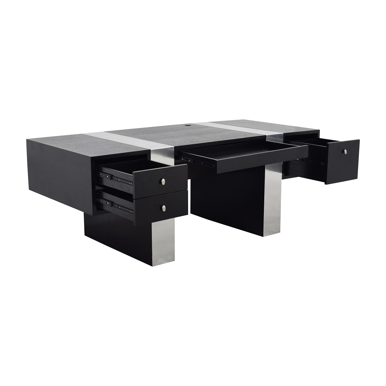InMod Nero Black and Chrome Desk / Tables