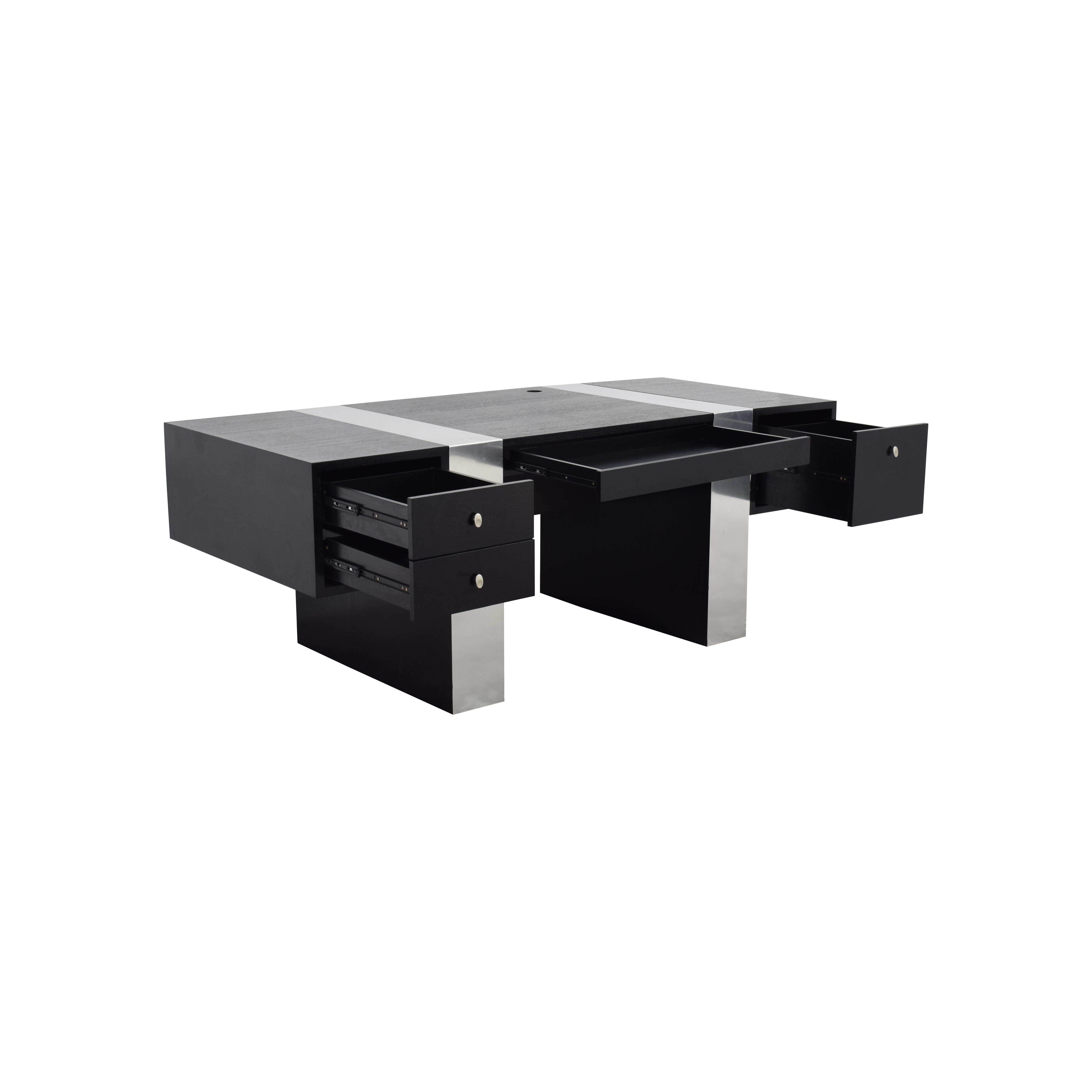 InMod InMod Nero Black and Chrome Desk for sale