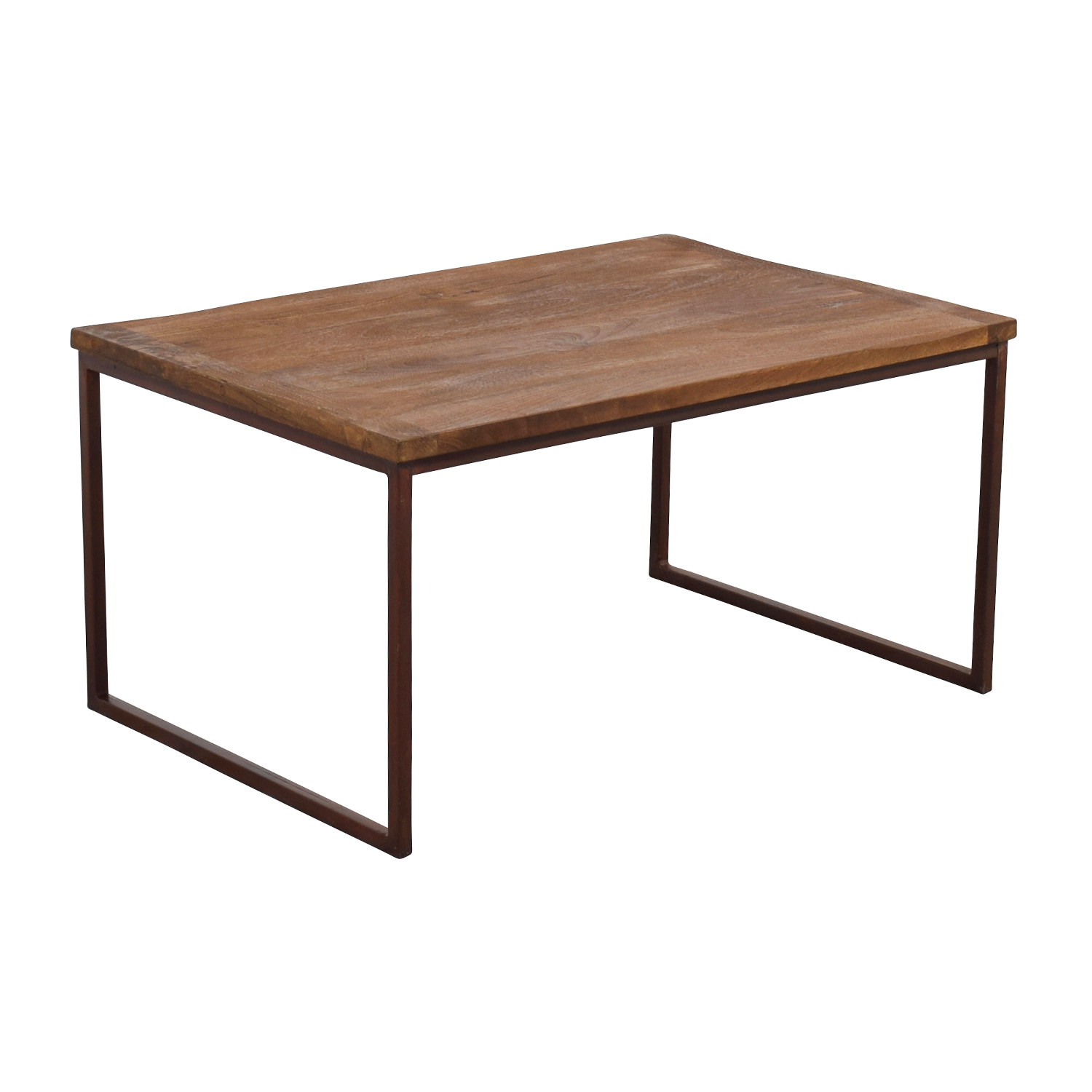 shop Pottery Barn Wood and Metal Rectangle Coffee Table Pottery Barn Tables