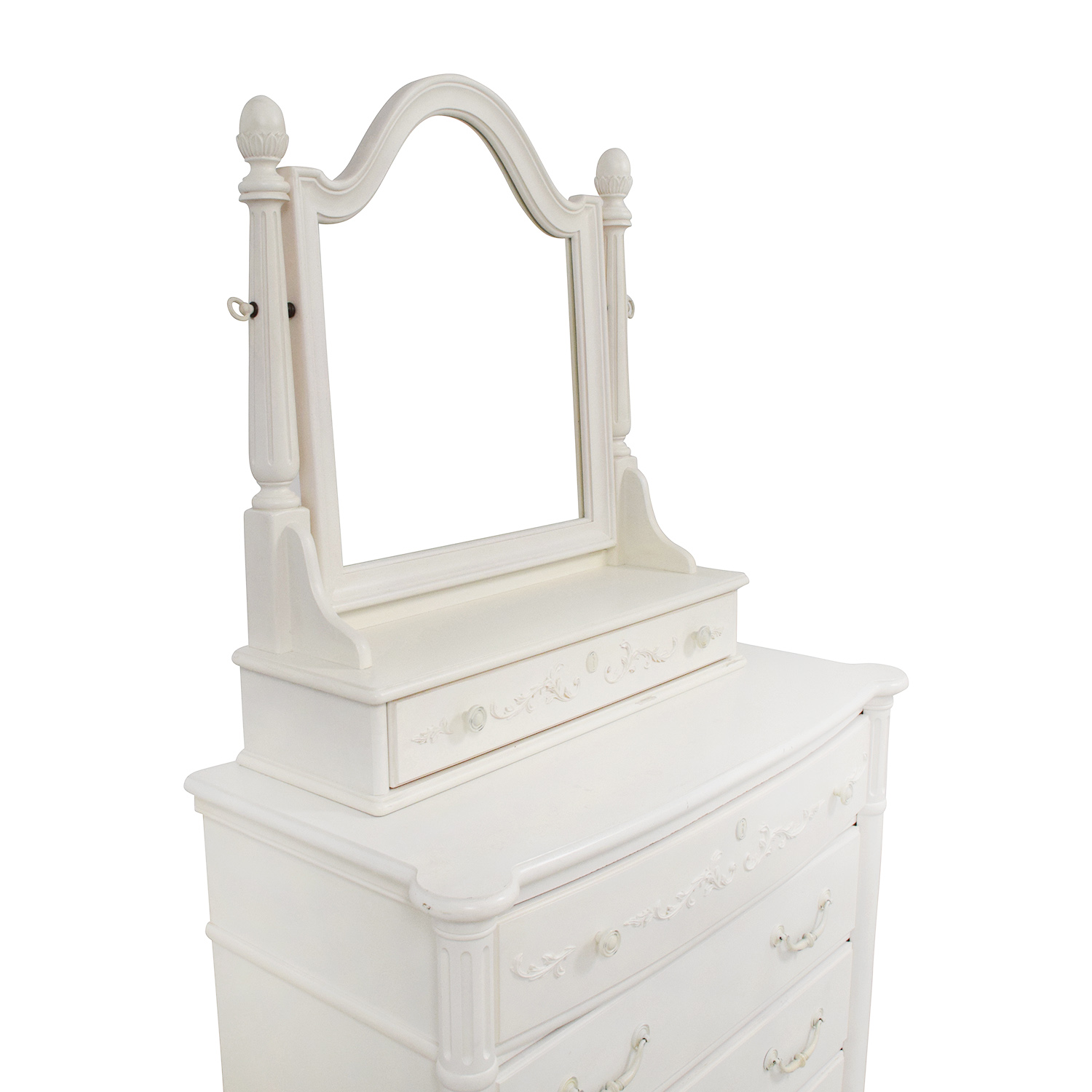 Stanley Furniture Stanley Furniture Isabella White Dressing Chest with Mirror dimensions