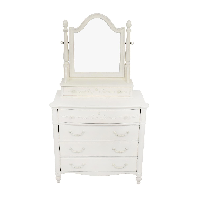 Stanley Furniture Stanley Furniture Isabella White Dressing Chest with Mirror white