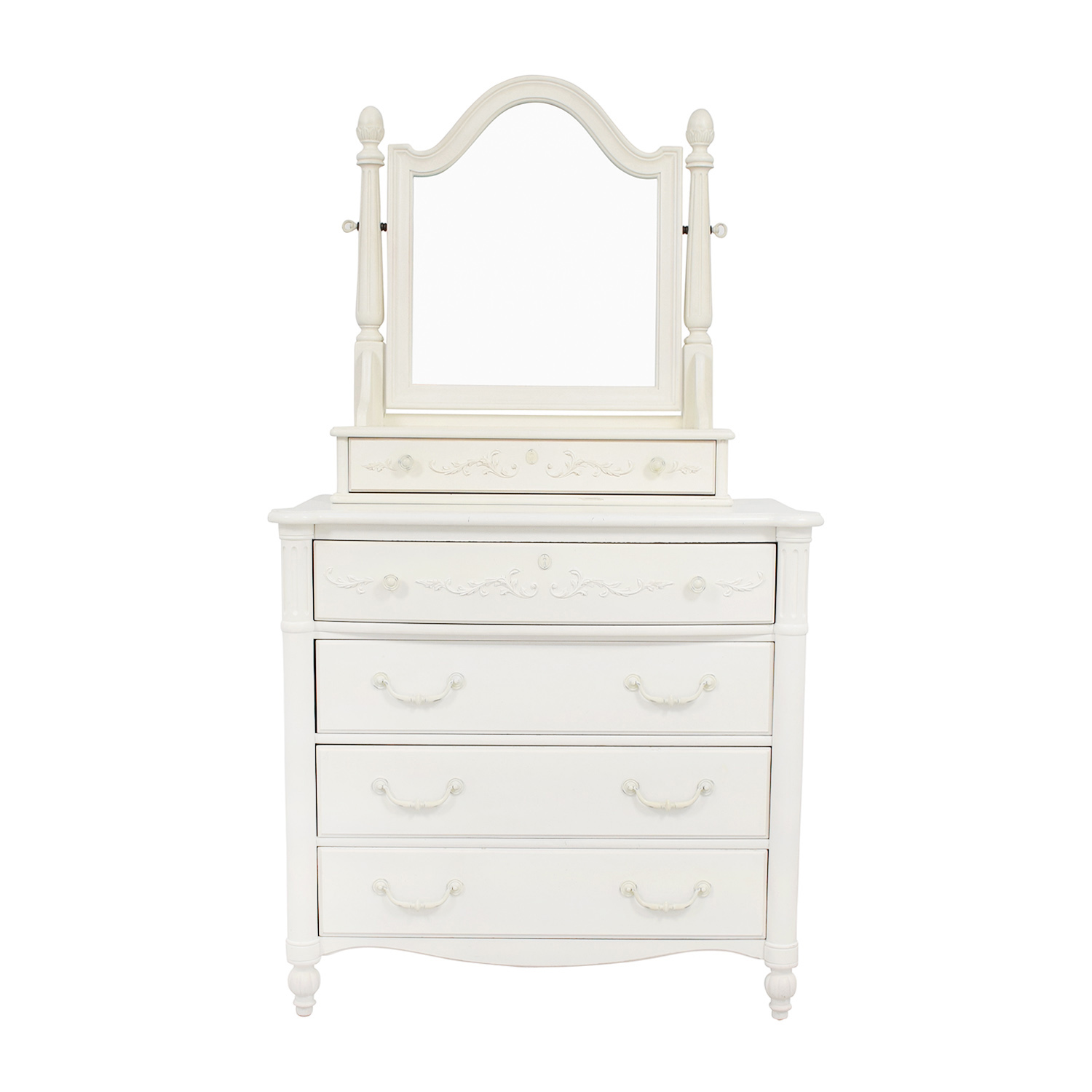 Stanley Furniture Isabella White Dressing Chest With Mirror