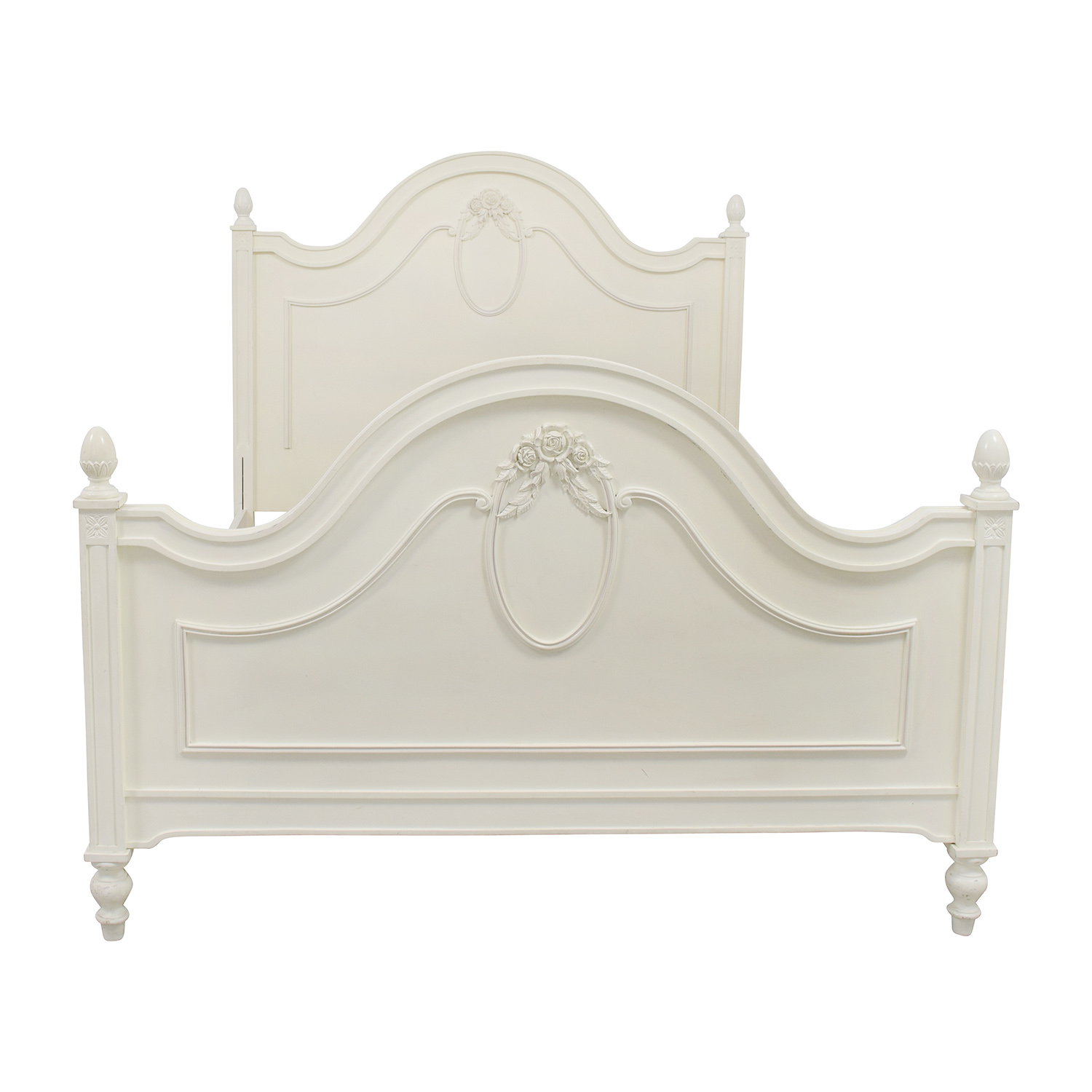 Stanley Furniture Isabella Cameo White Low Post Full Bed Frames
